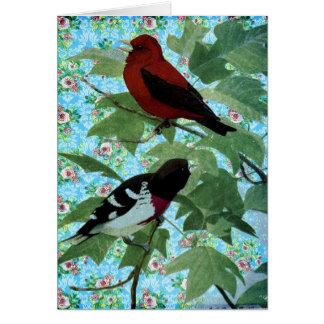 Pájaros bonitos del día tarjeta