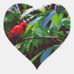 Pájaros bonitos pegatina en forma de corazón
