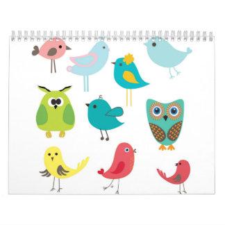 Pájaros Calendarios De Pared