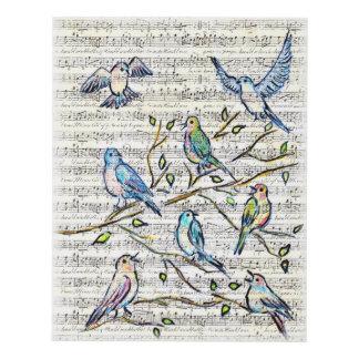 Pájaros cantantes cuadro