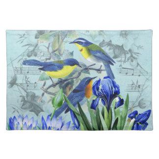 Pájaros cantantes florales ropa y regalos del vint mantel