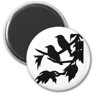 pájaros cantantes imán redondo 5 cm