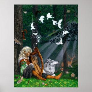 Pájaros cantantes - impresión o poster