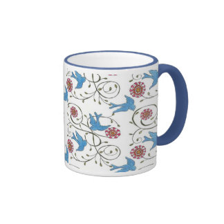 Pájaros caprichosos taza de café