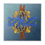 Pájaros célticos azulejo ceramica