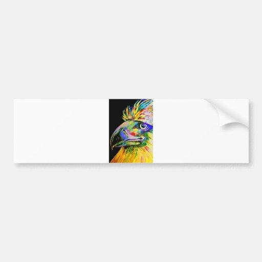 Pájaros coloridos cabeza y pico pegatina para auto