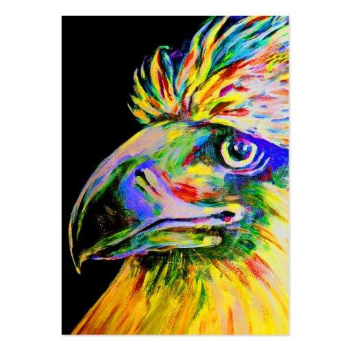 Pájaros coloridos cabeza y pico plantilla de tarjeta de visita