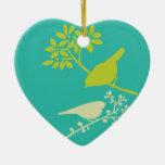 Pájaros coloridos ornamento para reyes magos