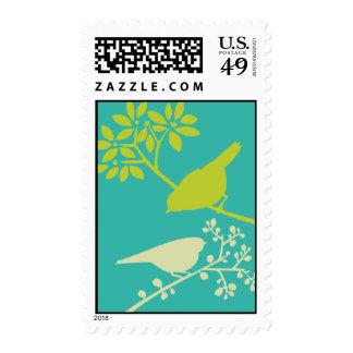 Pájaros coloridos sello