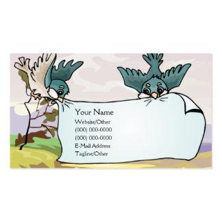 Pájaros con la bandera plantillas de tarjetas de visita