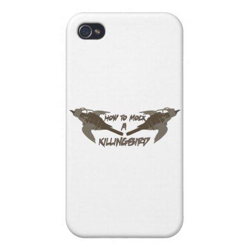 Pájaros cruzados iPhone 4/4S carcasa