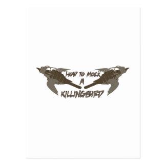 Pájaros cruzados tarjeta postal