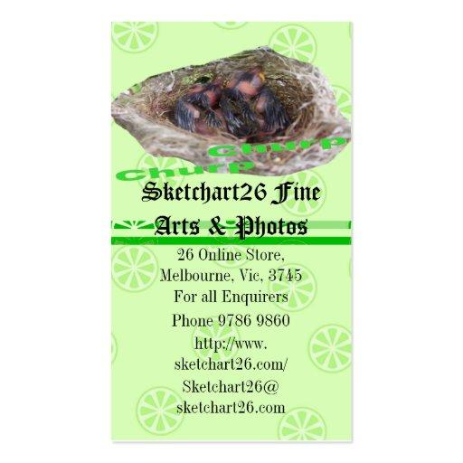 Pájaros de bebé tarjetas de visita