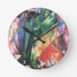 Pájaros de Franz Marc; Vogel, cubismo del vintage Reloj