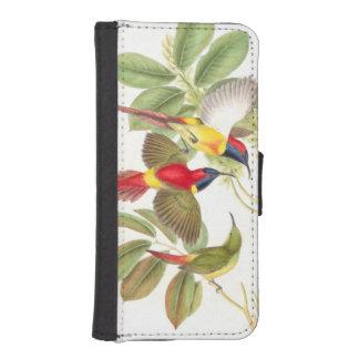 Pájaros de Goulds Sunbird Funda Tipo Billetera Para iPhone 5