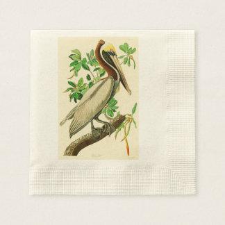 Pájaros de John James Audubon del pelícano de Servilleta Desechable