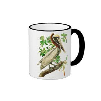 Pájaros de John James Audubon del pelícano de Taza De Dos Colores