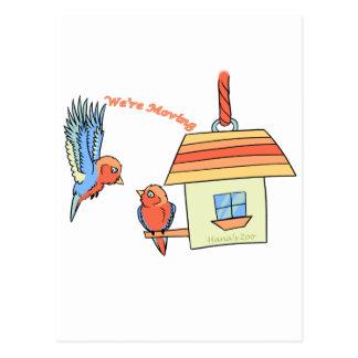 Pájaros de la casa tarjeta postal