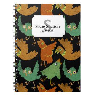Pájaros de la fruta cítrica note book