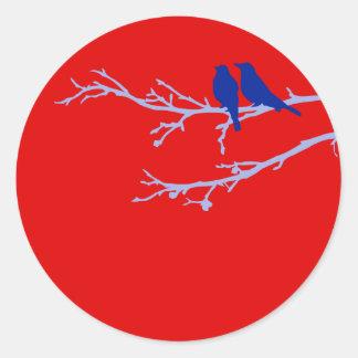 pájaros de la MOD Pegatina Redonda
