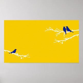 pájaros de la MOD Póster