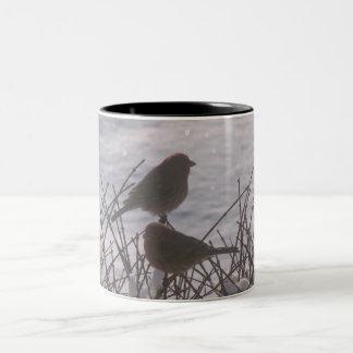 Pájaros de la nieve taza de café