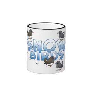 Pájaros de la nieve tazas de café