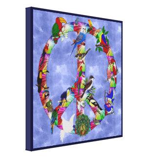Pájaros de la paz lona estirada galerias