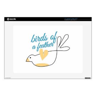 Pájaros de la pluma 38,1cm portátil calcomanía
