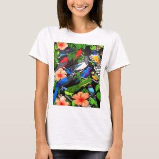 Pájaros de la selva de la camiseta de la muñeca de