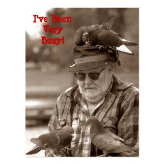 Pájaros de las palomas de la diversión de los tarjeta postal