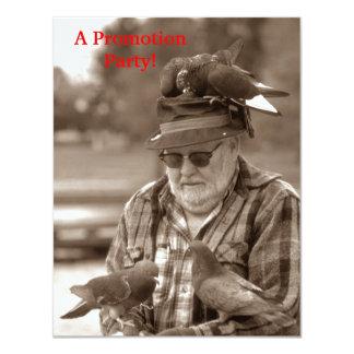 """Pájaros de las palomas de la diversión en la invitación 4.25"""" x 5.5"""""""