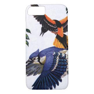 Pájaros de los animales salvajes del vintage, el funda iPhone 7
