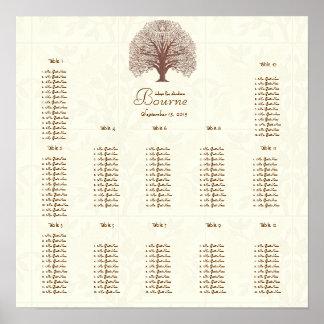 Pájaros de marfil del ingenio del árbol del posters