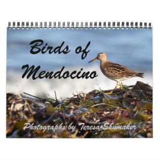 Pájaros de Mendocino Calendarios De Pared