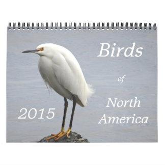 Pájaros de Norteamérica - 2015 Calendario De Pared