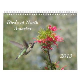 Pájaros de Norteamérica Calendario De Pared