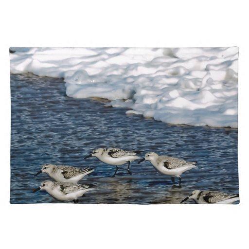 Pájaros de orilla manteles