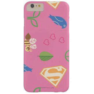 Pájaros de Supergirl y el rosa de las abejas Funda Para iPhone 6 Plus Barely There