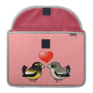 Pájaros de tarde en amor fundas para macbook pro