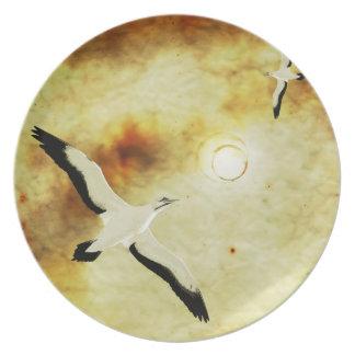 Pájaros de The Sun Plato De Cena