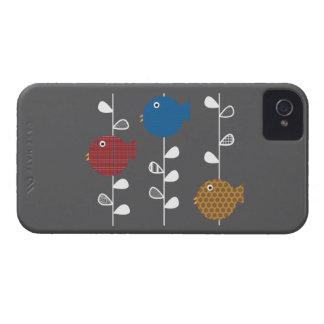 Pájaros de un caso del iphone 4 de la hoja carcasa para iPhone 4