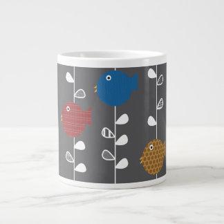 Pájaros de una taza de la especialidad de la hoja taza grande
