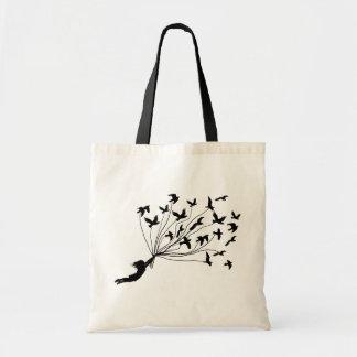 Pájaros de vuelo en el bolso amistoso de Eco de la Bolsa Tela Barata