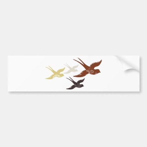 Pájaros de vuelo pegatina de parachoque
