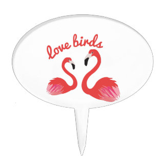Pájaros del amor figuras de tarta