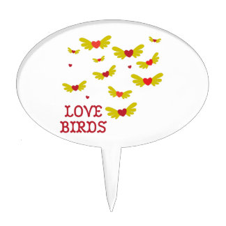 Pájaros del amor decoraciones de tartas