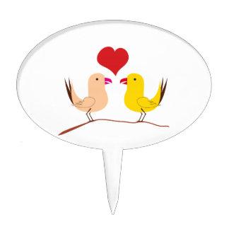 Pájaros del amor decoración de tarta