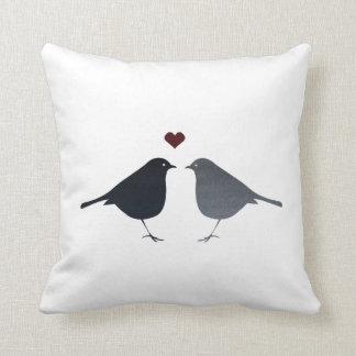 Pájaros del amor almohadas