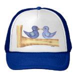 Pájaros del amor (azules) gorro